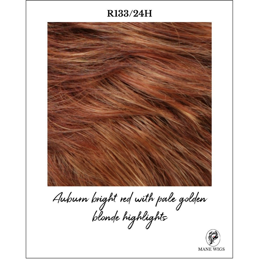 R133/24H-Auburn bright red with pale golden blonde highlights