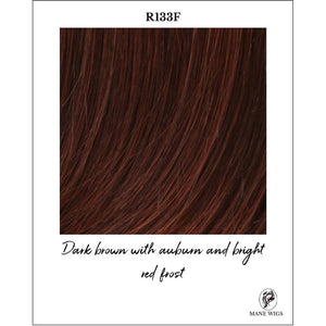 R133F-Dark brown with auburn and bright red frost
