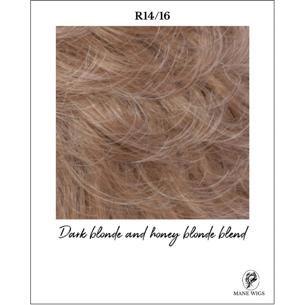 R14/16-Dark blonde and honey blonde blend