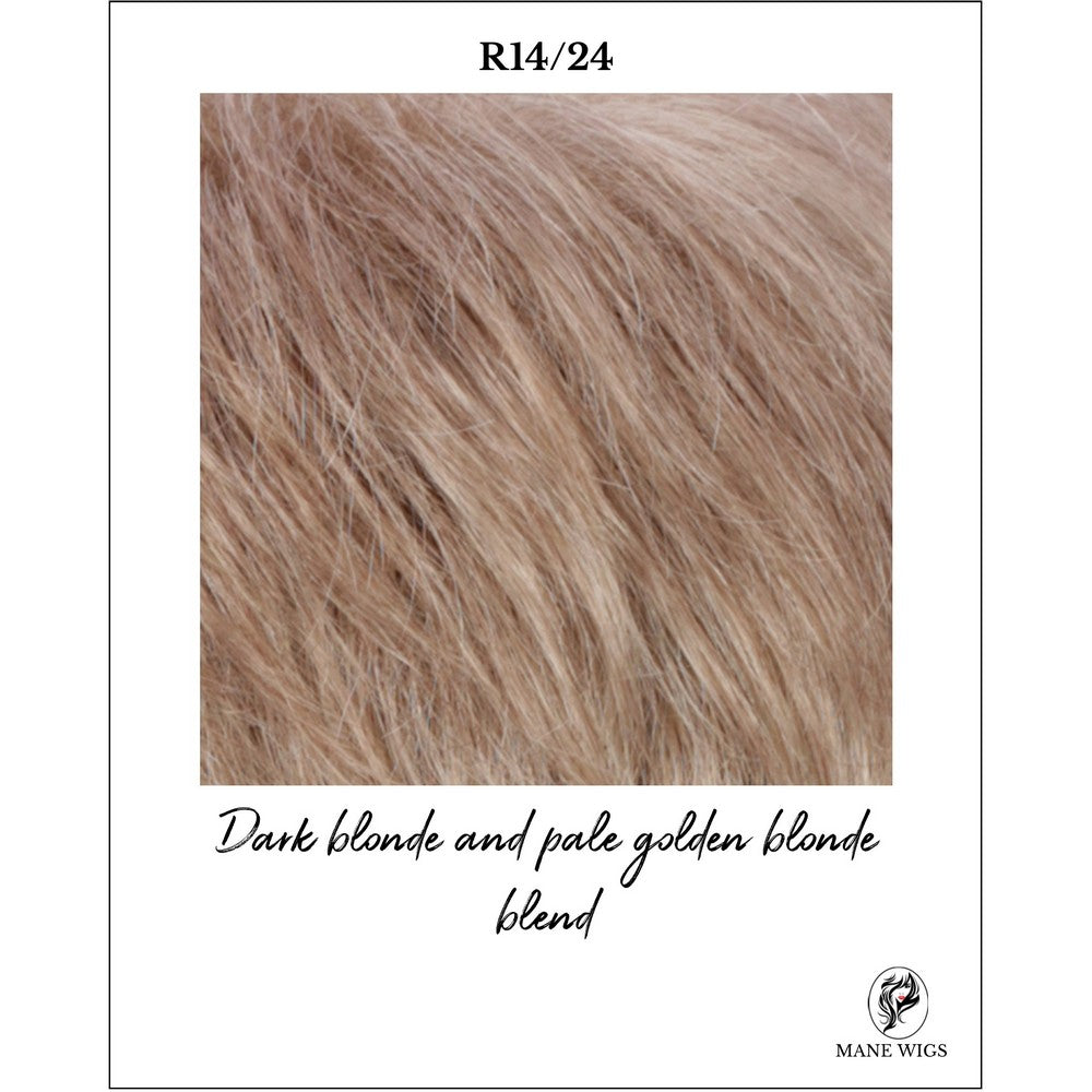 R14/24-Dark blonde and pale golden blonde blend