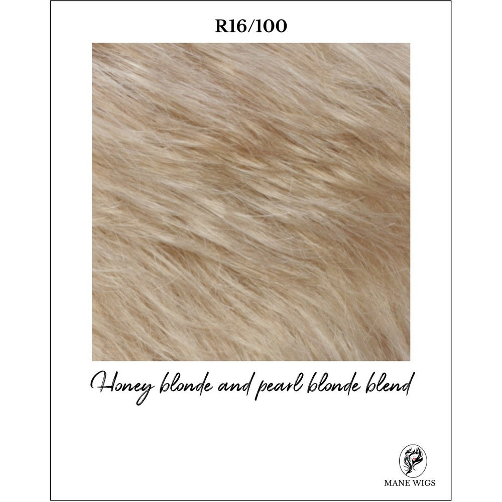R16/100-Honey blonde and pearl blonde blend