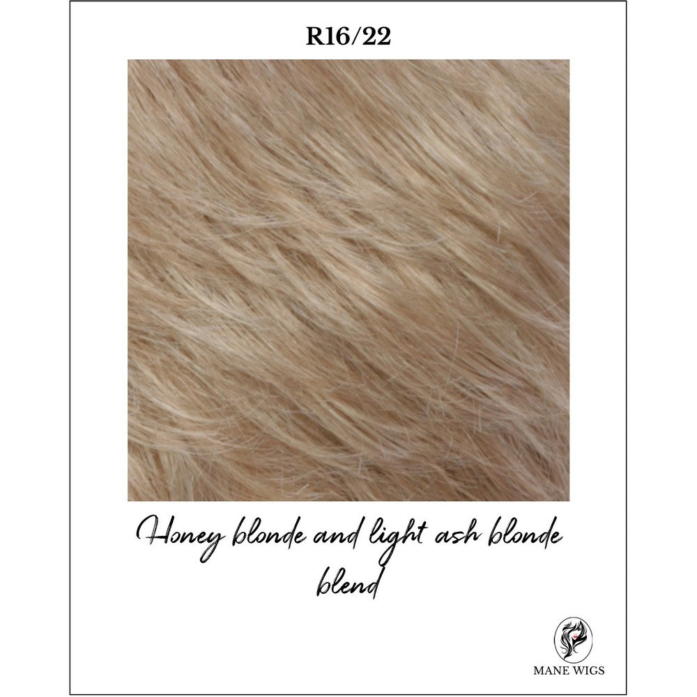 R16/22-Honey blonde and light ash blonde blend