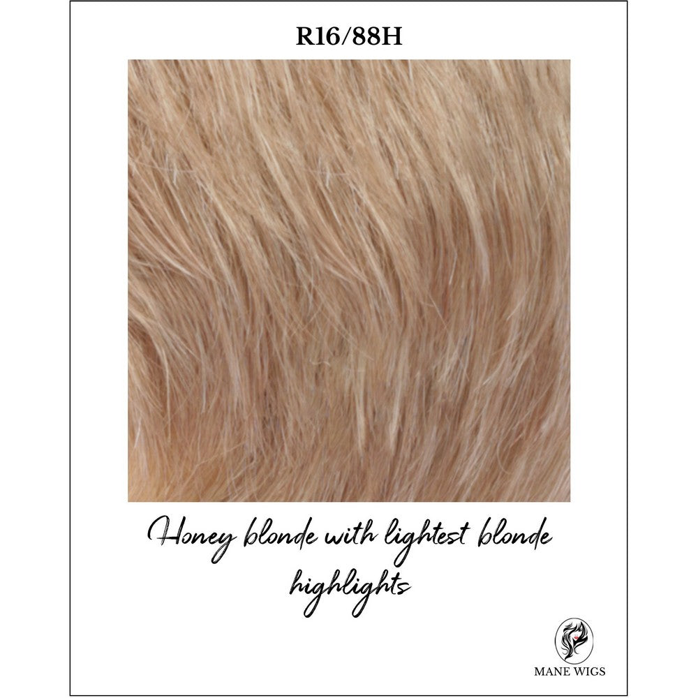 R16/88H-Honey blonde with lightest blonde highlights
