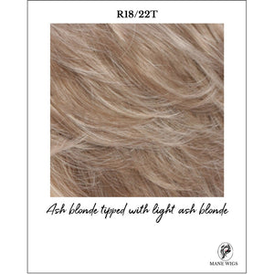 R18/22T-Ash blonde tipped with light ash blonde