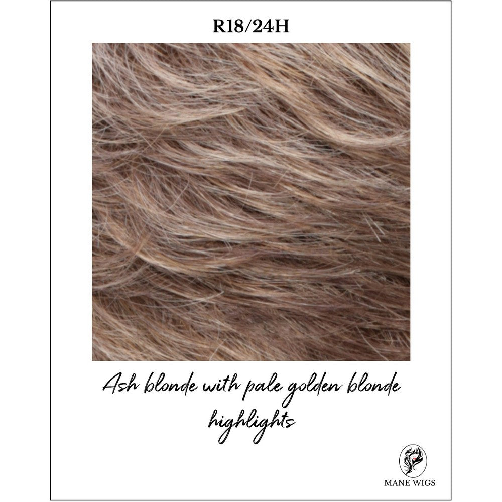 R18/24H-Ash blonde with pale golden blonde highlights