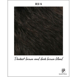 R2/4-Darkest brown and dark brown blend