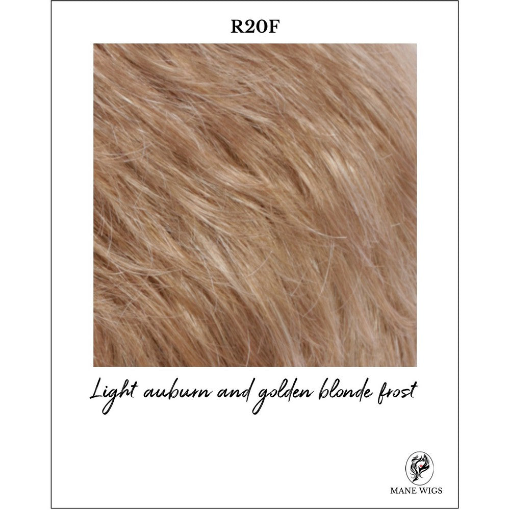 R20F-Light auburn and golden blonde frost