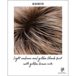 Load image into Gallery viewer, R20RT8-Light auburn and golden blonde frost with golden brown roots
