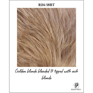 R24/18BT-Golden blonde blended & tipped with ash blonde