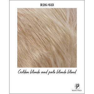 R26/613-Golden blonde and pale blonde blend