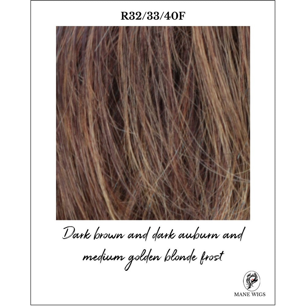 R32/33/40F-Dark brown and dark auburn and medium golden blonde frost