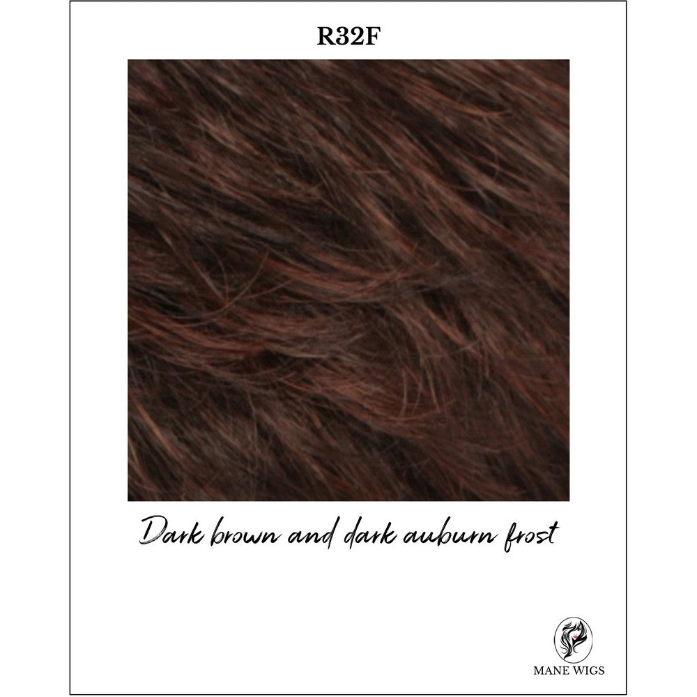 R32F-Dark brown and dark auburn frost