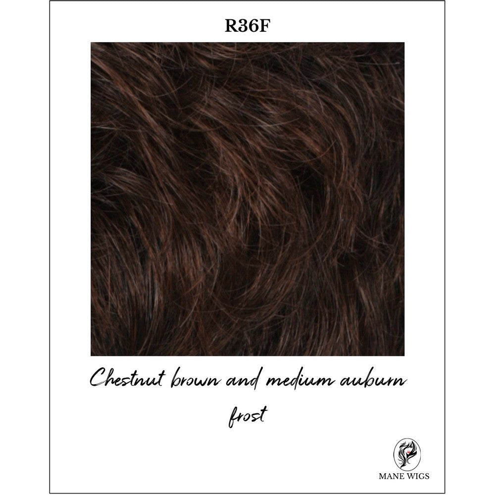 R36F-Chestnut brown and medium auburn frost