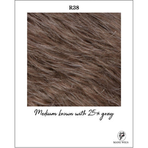 R38-Medium brown with 25% gray