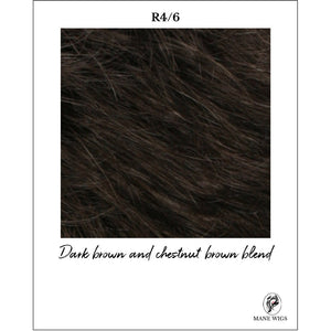 R4/6-Dark brown and chestnut brown blend