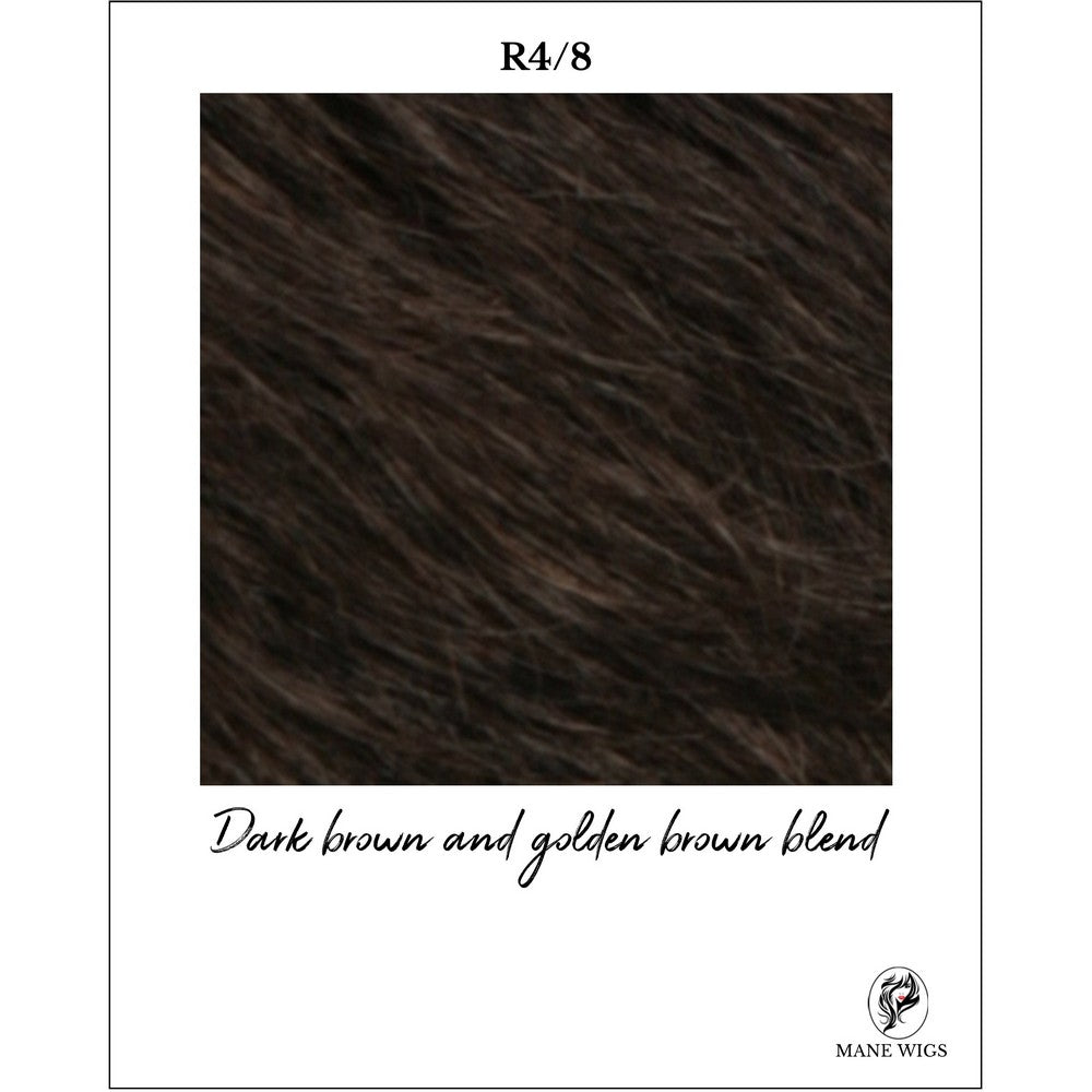 R4/8-Dark brown and golden brown blend
