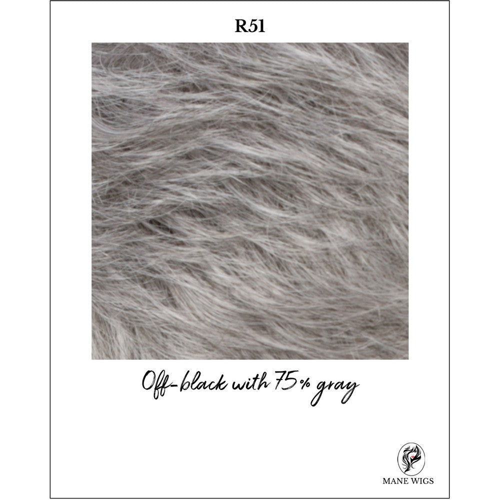 R51-Off-black with 75% gray