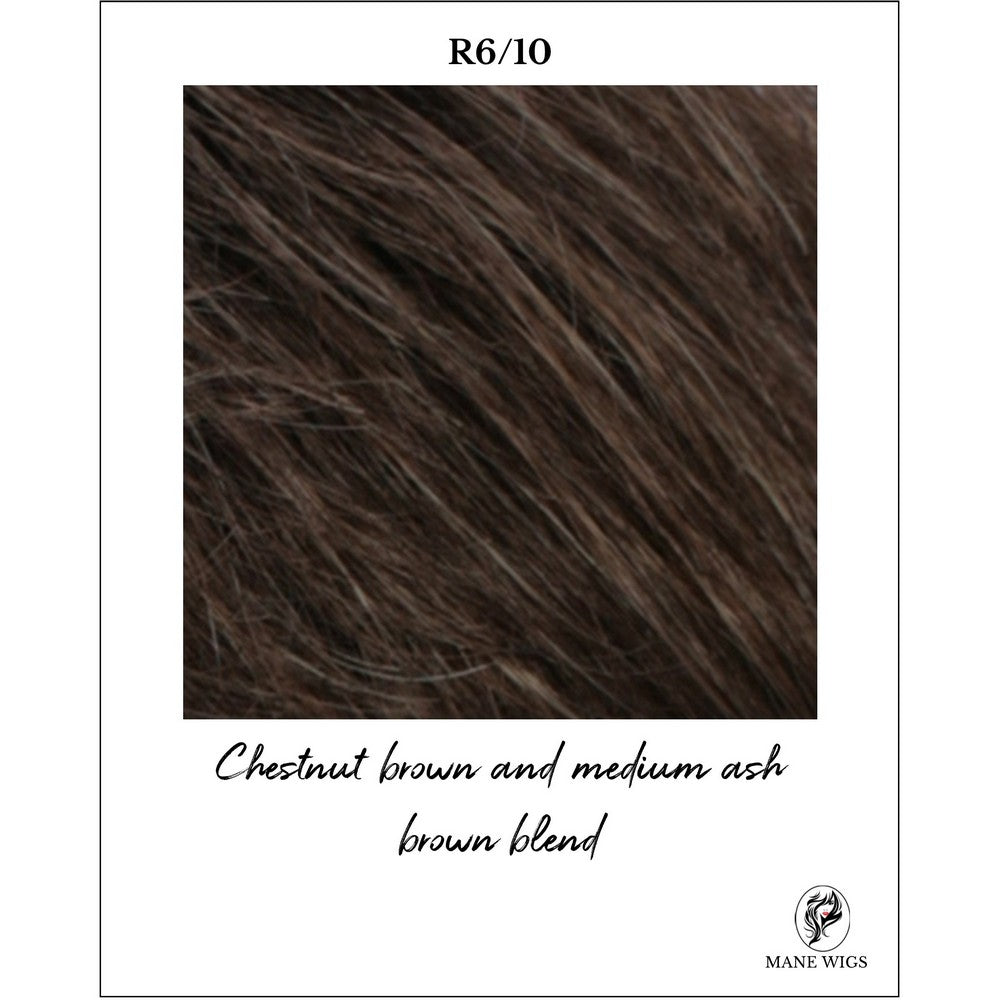 R6/10-Chestnut brown and medium ash brown blend