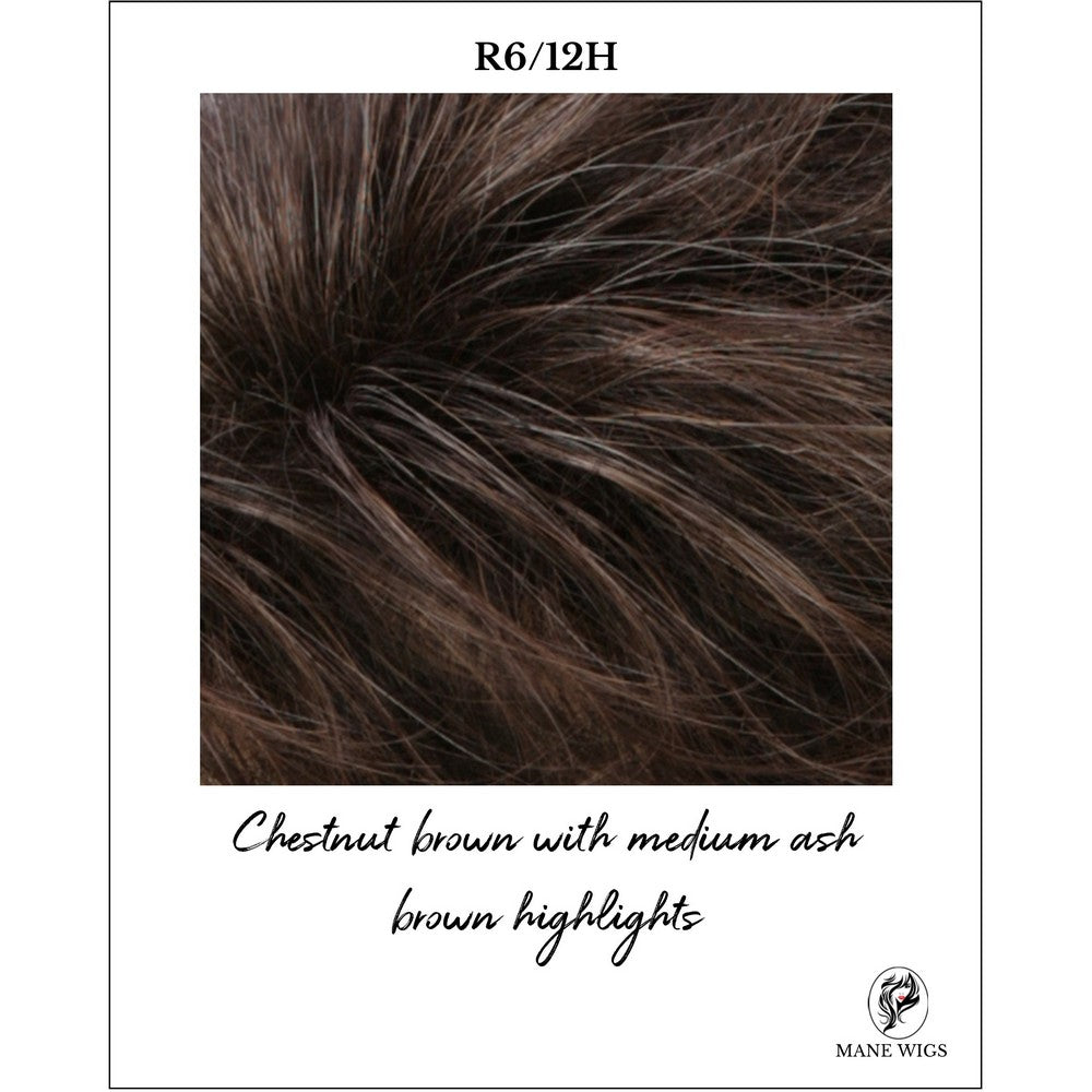 R6/12H-Chestnut brown with medium ash brown highlights