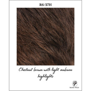 R6/27H-Chestnut brown with light auburn highlights