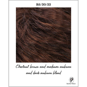 R6/30/33-Chestnut brown and medium auburn and dark auburn blend