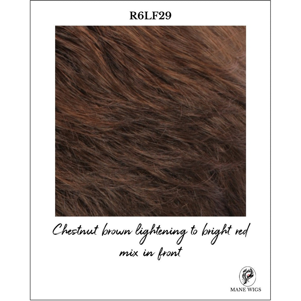 R6LF29-Chestnut brown lightening to bright red mix in front
