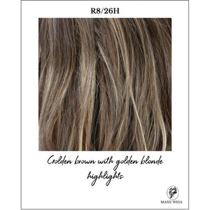 R8/26H-Golden brown with golden blonde highlights