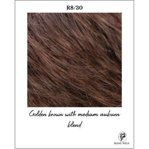 R8/30-Golden brown with medium auburn blend