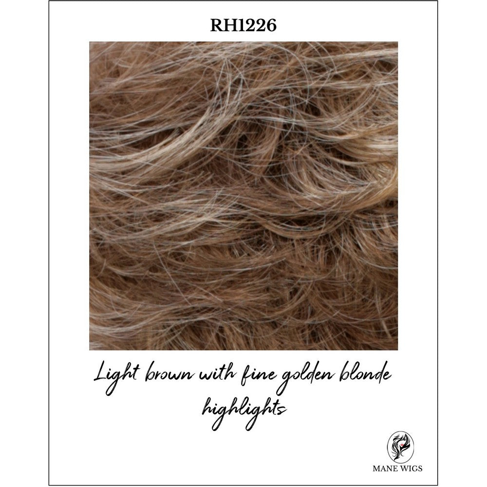 RH1226-Light brown with fine golden blonde highlights