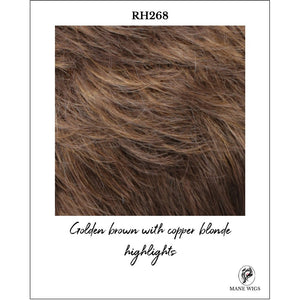 RH268-Golden brown with copper blonde highlights