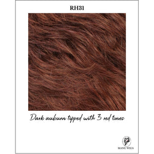 RH31-Dark auburn tipped with 3 red tones