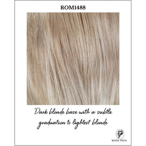 ROM1488-Dark blonde base with a subtle graduation to lightest blonde