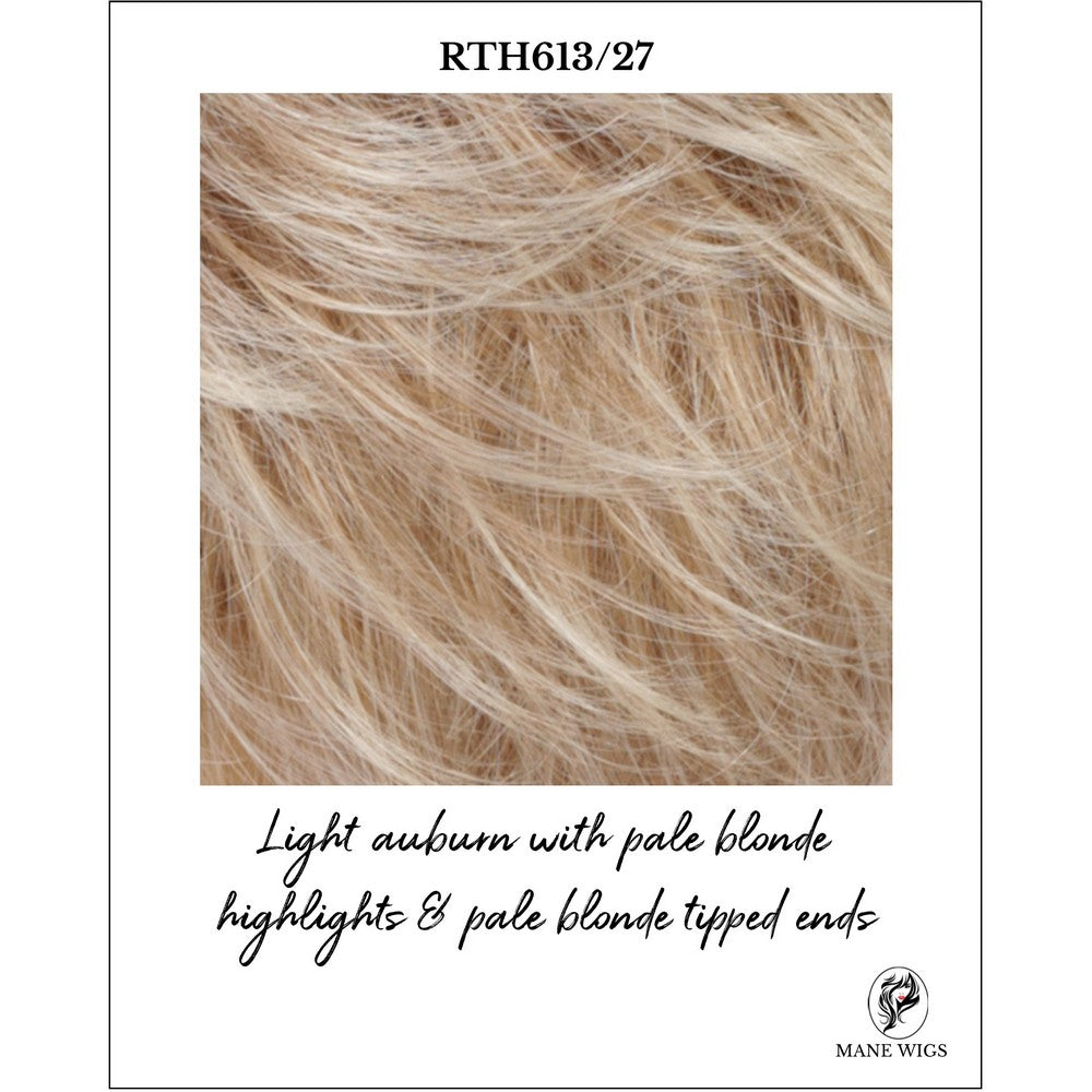RTH613/27-Light auburn with pale blonde highlights & pale blonde tipped ends