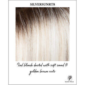 SILVERSUNRT8-Iced blonde dusted with soft sand & golden brown roots