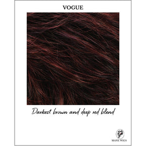 VOGUE-Darkest brown and deep red blend
