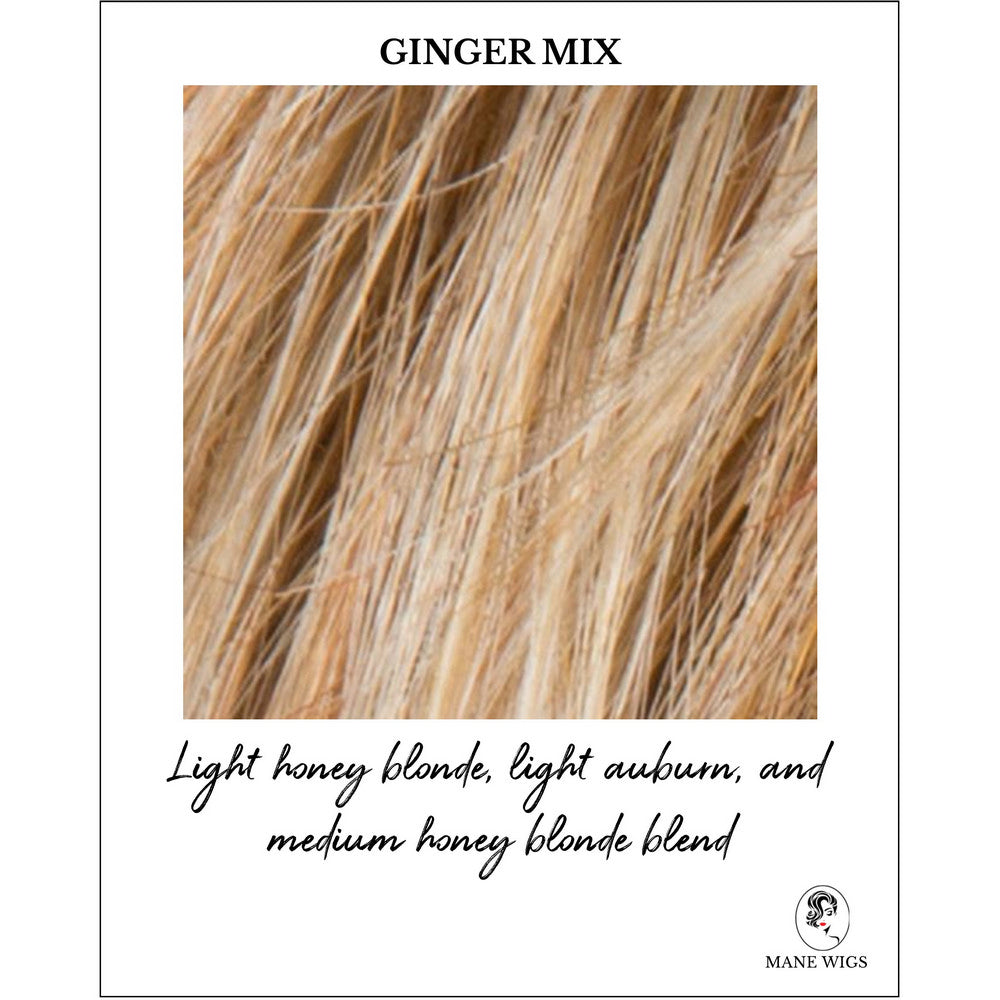 Ginger Mix-Light honey blonde, light auburn, and medium honey blonde blend