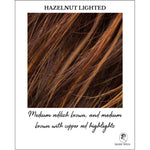 Load image into Gallery viewer, Hazelnut Lighted-Medium reddish brown, and medium brown with copper red highlights
