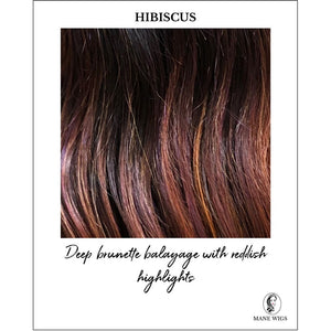 Hibiscus-Deep brunette balayage with reddish highlights