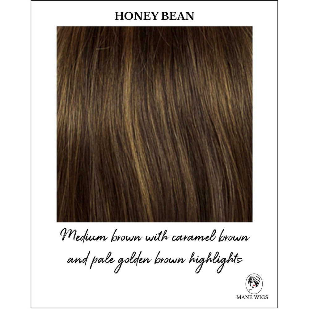 Honey Bean-Medium brown with caramel brown and pale golden brown highlights