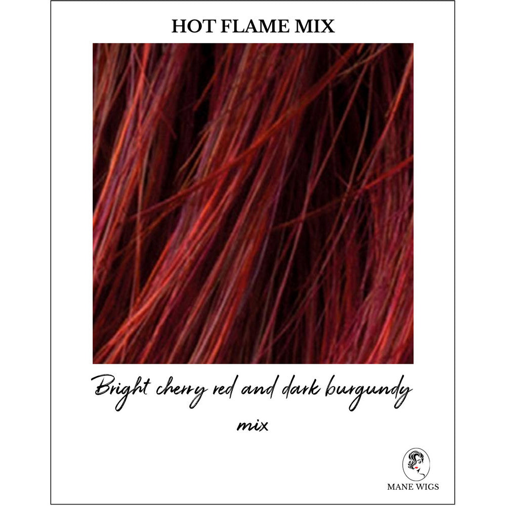 Hot Flame Mix-Bright cherry red and dark burgundy mix