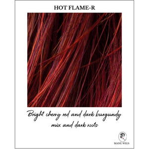 Hot Flame-R-Bright cherry red and dark burgundy mix and dark roots