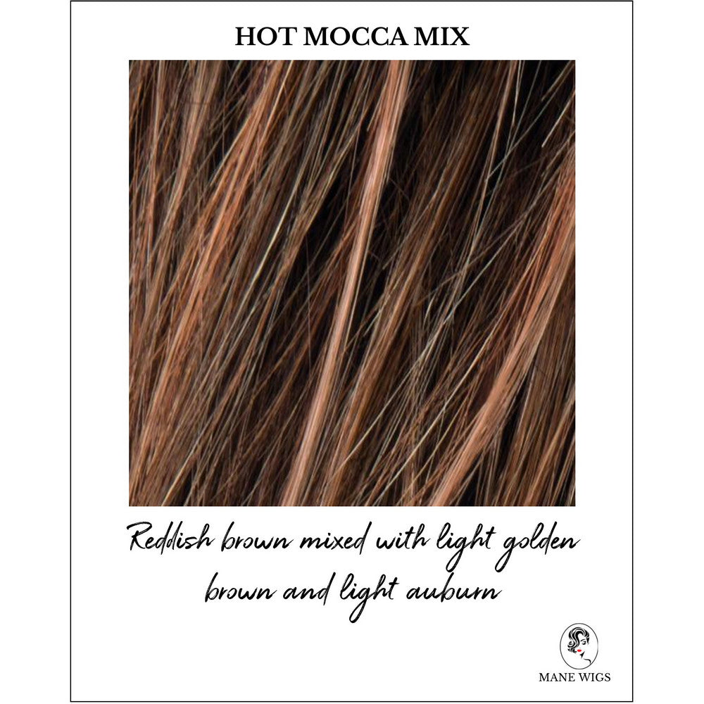 Hot Mocca Mix-Reddish brown mixed with light golden brown and light auburn
