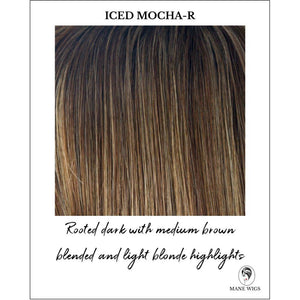 Iced Mocha-R - Rooted dark with medium brown blended and light blonde highlights