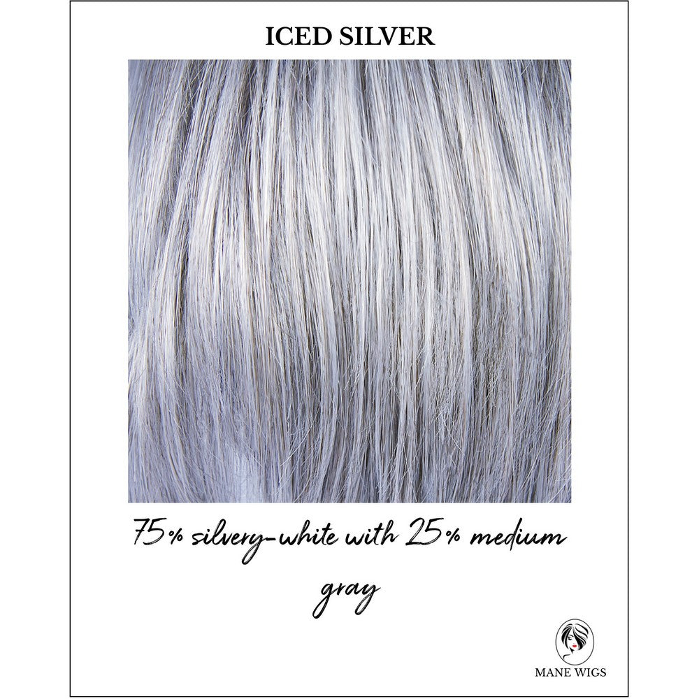 Iced Silver-75% silvery-white with 25% medium gray
