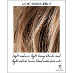 Load image into Gallery viewer, Light Bernstein-R-Light auburn, light honey blonde, and light reddish brown blend with dark roots