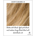 Load image into Gallery viewer, Light Caramel-R-Butterscotch blonde, light pale blonde, and medium honey blonde blend with dark blonde roots