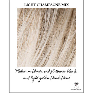 Light Champagne Mix-Platinum blonde, cool platinum blonde, and light golden blonde blend