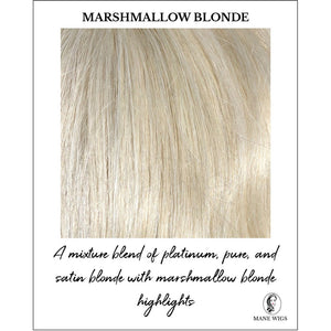 Marshmallow Blonde-A mixture blend of platinum, pure, and satin blonde with marshmallow blonde highlights