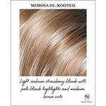 Load image into Gallery viewer, Mimosa HL-Rooted-Light auburn strawberry blond with pale blonde highlights and medium brown roots