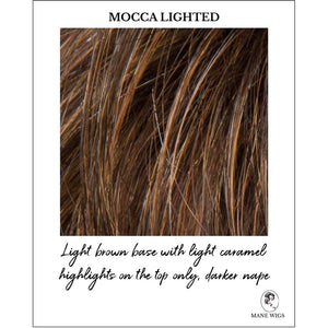 Mocca Lighted-Light brown base with light caramel highlights on the top only, darker nape